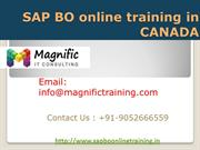 SAP BO (BUSINESS OBJECTS) ONLINE TRAINING