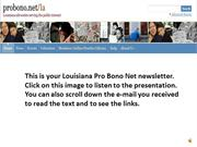 2013 DECEMBER LOUISIANA PRO BONO NET NEWS