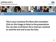 DECEMBER 2013 LOUISIANA PRO BONO NET NEWS
