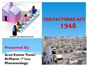 Factory  Act-1948