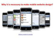 Responsive mobile website design