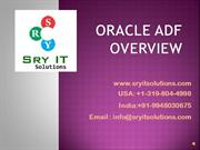 Oracle ADF Online Training | SRY IT Solutions offered from hyderabad