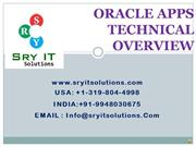 Oracle Apps Technical Online Training | SRY IT Solutions