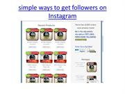 simple ways to get followers on Instagram