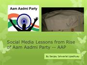 Social Media Lessons from Rise of Aam Aadmi Party - AAP