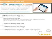 Features of Microsoft Outlook 2013