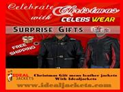 Online Christmas offer With dark brown Slim Fit Leather Jacket For Me