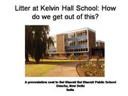Litter at Kelvin Hall School2
