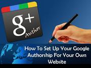How to Set Google Authorship Through Google Pluse for Your Website