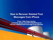 How to Recover Deleted Text Messages from iPhone