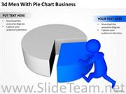 MAN WITH PIE CHART PPT SLIDES