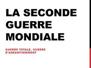 La Seconde Guerre Mondiale modif