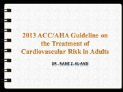 Guideline on the Treatment of Cardiovascular Risk in Adults