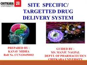 site specific drug delivery system by kanav