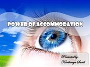Power of Accommodation- Human Eye