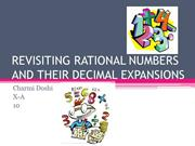 REVISITING RATIONAL NUMBERS AND THEIR DECIMAL EXPANSIONS