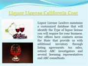 Liquor License California Cost