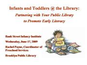 Infants & Toddlers @ the Library