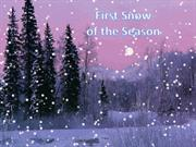 1-Winter-1-First Snow of the Season