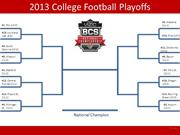 College Football Bracket (Final) 2013