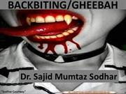 BACKBITING,Tongue is boness but it sharperthan sword.Dr.Sajid Mumtaz S