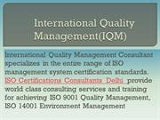 ISO Certification Consultants In Delhi | ISO Quality Certification