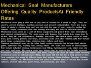 Mechanical Seal Manufacturers Offering Quality ProductsAt Friendly Rat