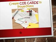 Create Cue Cards in PowerPoint