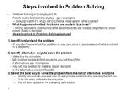 lecture3-fundamentals Steps involved in Problem Solving