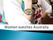 Women watches Australia