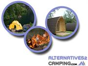 Glamping UK, Luxury camping, Camping Pods, Alternatives2camping
