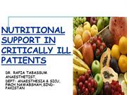 NUTRITIONAL SUPPORT FOR CRITICALLY ILL PATIENTS