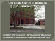 Home For Rent in Baltimore