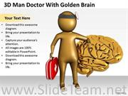 DOCTOR WITH GOLDEN BRAIN POWERPOINT TEMPLATES