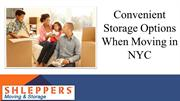 Convenient Storage Options When Moving in NYC