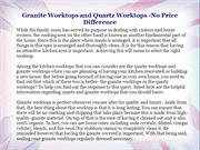 Granite Worktops and Quartz Worktops -No Price Difference