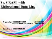 8x8 RAM WITH BIDIRECTIONAL DATA LINE