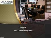 Welcome To Black Leather Dining Chairs