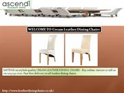 WELCOME TO Cream Leather Dining Chairs