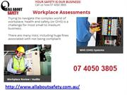 All about Safety - Development and Execution of Safe Work Procedures!