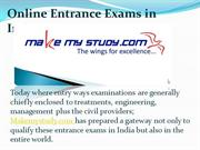 Online Entrance Exams in India And Abroad Program  At Makemystudy.com