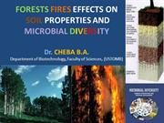 Effects of forest  fires on soils properties and microbial diversity
