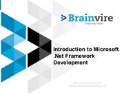 Introduction to Microsoft .Net Framework Development