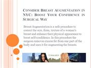 Consider Breast Augmentation in NYC: Boost Your Confidence in Surgical