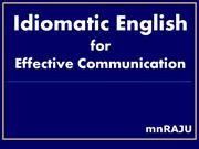 Idiomatic English for Effective Communication