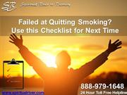 Failed at Quitting Smoking Use this Checklist for next time