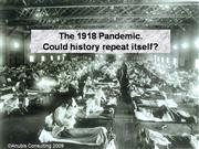 The 1918 Pandemic