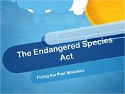 Endangered Species Act Case Study