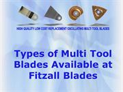 Types of Multi Tool Blade Available at Fitzall Blades
