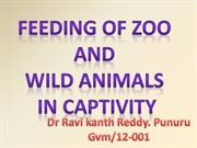 Feeding of wild Animals in Captivity and in zoo